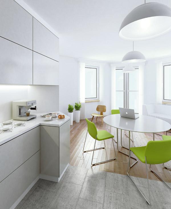 Nowa perspektywa, czyli dodatkowa przestrzeń w mieszkaniu   -> Wnetrza Leroy Merlin Kuchnia