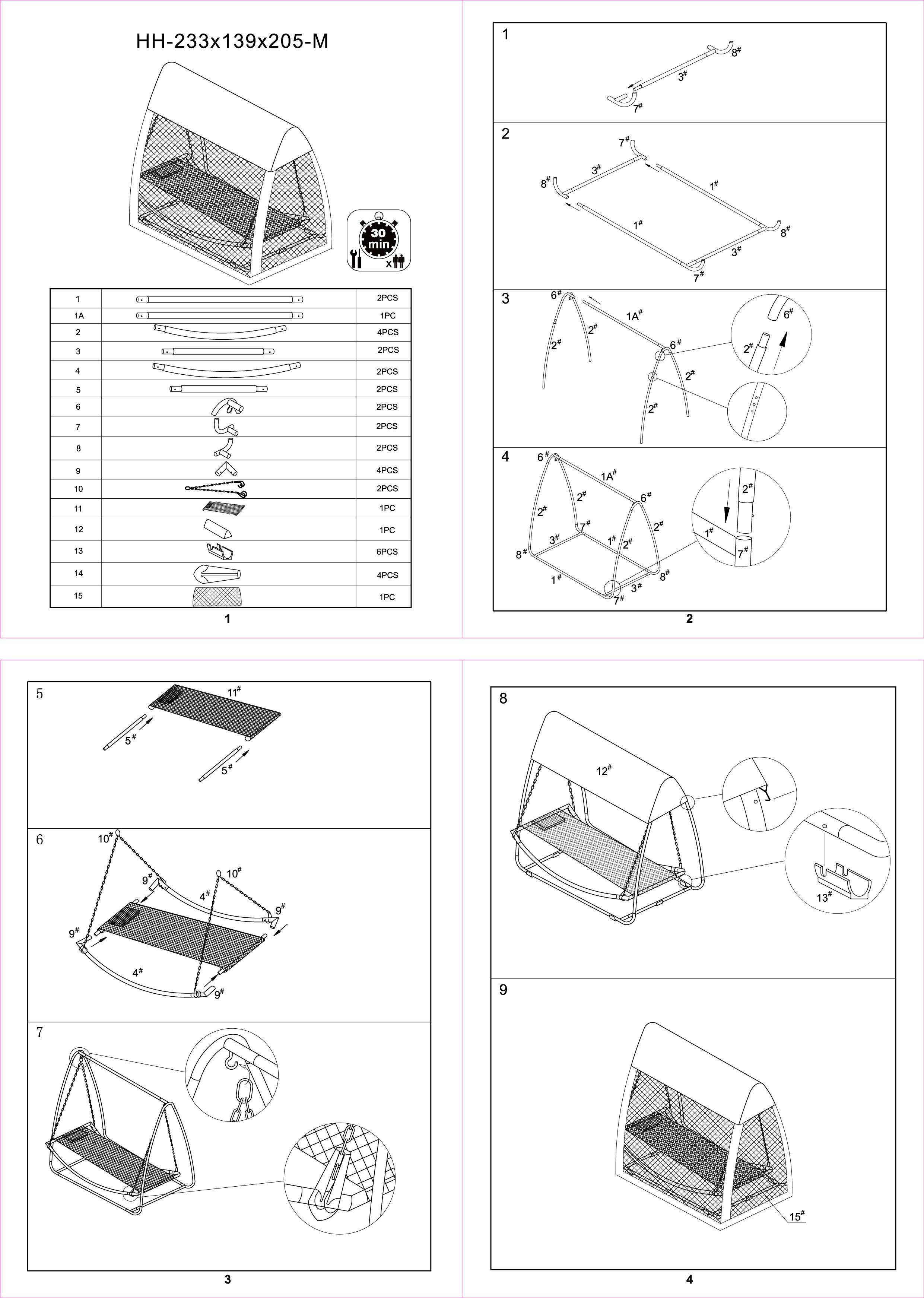 Montaz Hustawki Ogrodowej Dla Dzieci : Hamak ze stojakiem i moskitierą BALI 200 cm x 113 cm  Hamaki  w